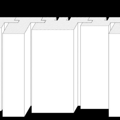 3D-Fassade vertikal