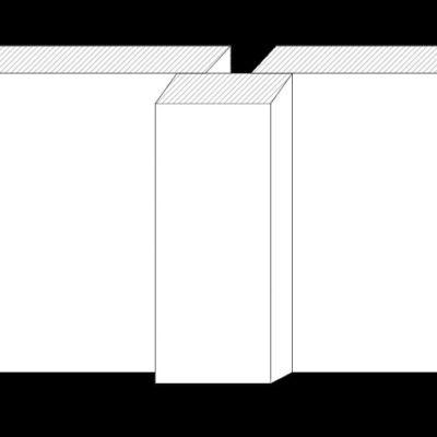 Boden-Deckleistenschalung